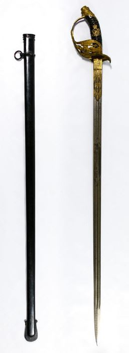 Prussian Model 1889 Infantry Officer Presentation Sword and Scabbard