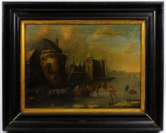 School Of Frederick Maes European 17th Century Oil on Board