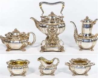 Tiffany Co. Chrysanthemum Sterling Silver Tea and Coffee Service