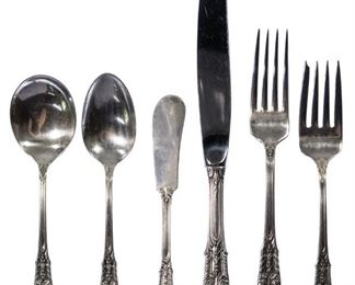 Wallace Rose Point Sterling Silver Flatware Service