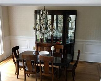 Bernhardt Table, Chairs, Hutch