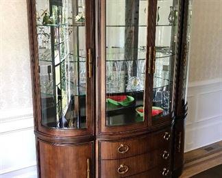 Bernhardt Curved Mirrored Hutch