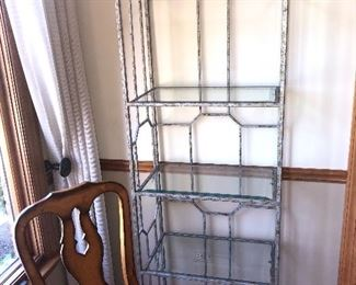 Metal rack.    Call 630-903-9747 to purchase this item.  Buy it now $90