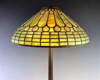 Tiffany Studios Jeweled Feather Table Lamp