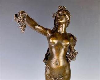 Maurice Bouval (1863-1916) Bronze Nude Lady