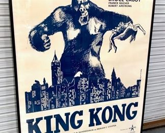 """Huge Vintage French movie poster """"King Kong"""" 1930's"""