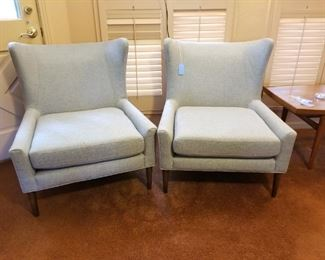 Four Hands Marlow Wing Chairs - Set of 2 - color is Chess Pewter  - like new