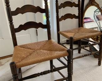Vintage ladderback chairs - 2 available