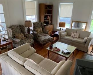 recently recovered couches - pull out sofas - great for a spare bedroom/tv room