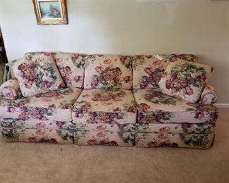 #4Byrant yellow flower sofa 92 long $120.00