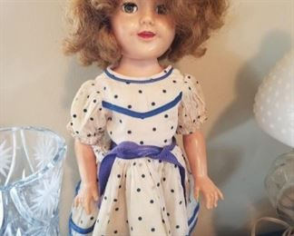 #25Shirley Timple doll as is  $20.00