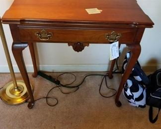 #15game table w 1 drawer and 2 gate legs with drop side 30x15-30x29 $125.00