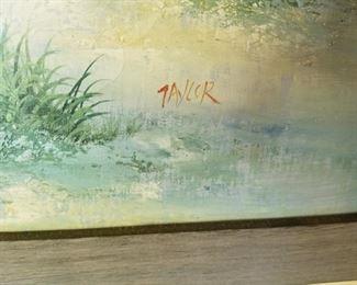 #19orginal acrilic painting of the beach and light house by Tayler 39x27 $65.00