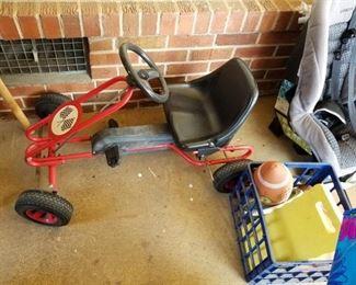 #34racing go cart  $45.00