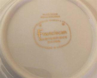 #36Franciscan Platinum Renaissance    13 plates, 6 saucers, 8 cups $75.00