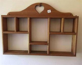 #37wooden display shelf $30.00