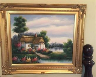 #40 Taylor cottage painting $50.00