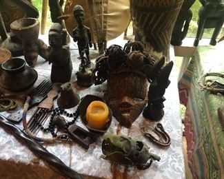 Antique African Trade, Combs, Ebony Carvings