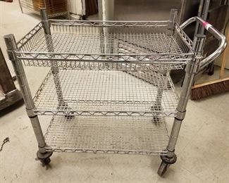 3 Tier Metal Cart On Wheels