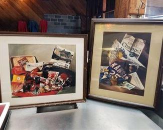 Cyndi West Limited Edition Kansas City Chiefs and KU Jayhawks Painting