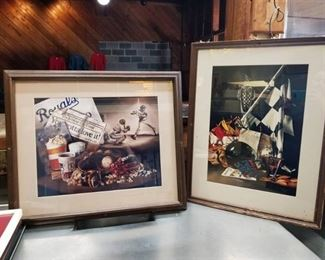 Cyndi West Limited Edition Kansas City Royals and Indy 500 Painting