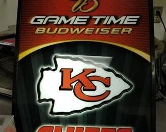 KC Chiefs Light Up Sign
