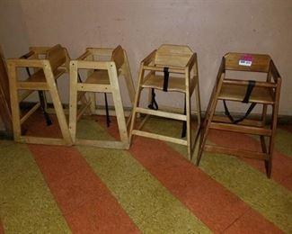 4 High Chairs