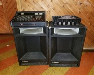 Yamaha Mixer 150 and 2 Speakers