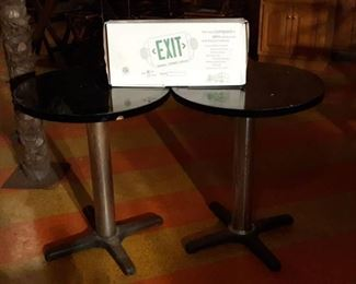 (2) Round Tables (1) Light Up Exit Sign