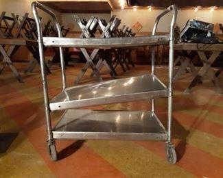 Rolling 3 Shelf Metal Cart