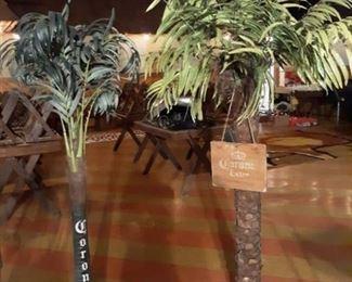 (2) Decorative Corona Extra Palm Trees