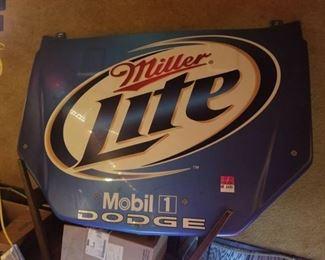 Miller Lite Nascar Hood Plastic