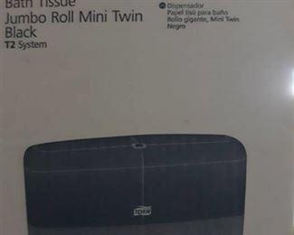 (6) Bath Tissue Dispenser Jumbo Roll Mini Twin Black