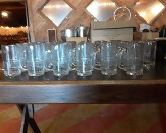 (47) 12oz Glass Beer Mugs
