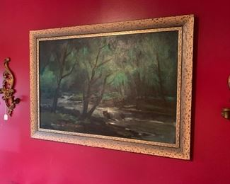 Lamar Dodd, oil on board. Signed and Dated. 47'