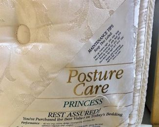 """Posture Care """"Princess"""" Queen Mattress and Box Spring - $75"""