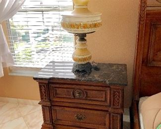 Night Stand w/Marble top - $85 - (32W  17D  28H)