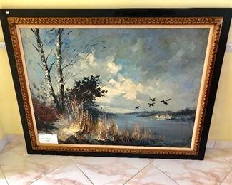 Large Original Oil on Canvas by Dutch Artist John Bevort (1917-1996) - $295 - (57W  45H)