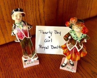 Royal Doulton Pearly Boy & Girl