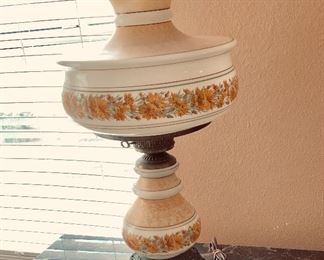 Antique  Parlor/Hurricane Lamp
