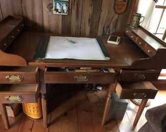 """#5BS Vintage George Washington Desk $800 54""""Lx25""""Wx30""""H now $350"""