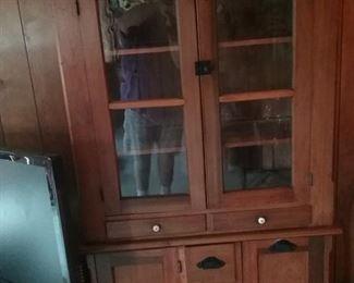 Vintage cupboard with flour bins