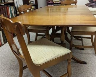$125  Maple table & chairs
