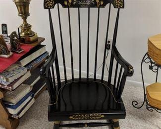$40   Black rocking chair