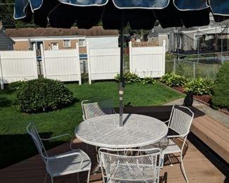 $100  White 5 piece patio set