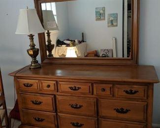 $125  Maple dresser with mirror