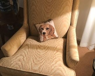 Nice clean cream colored chair.