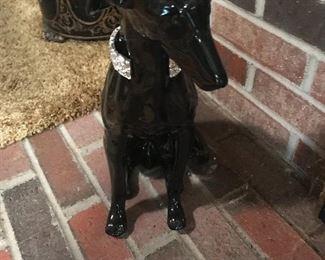 Ceramic greyhound dog