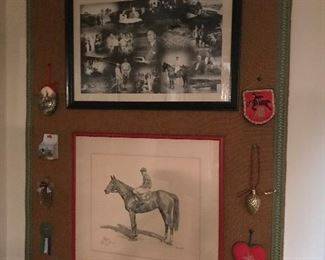 Powel Crosley Jr. memorabilia and print by Brewer Jr of ARMED. Owned by Calumet farm 193/500