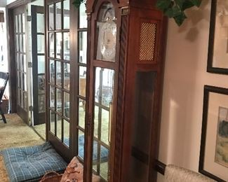 Gorgeous grandfather clock with Cincinnati history. Herschede, German movement, plays Westminster chime